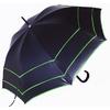 Parapluie noir trois ganses vertes