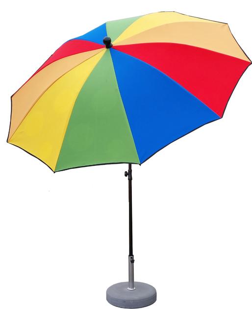 parasol rond 250 doubl disco parasol classique parasol. Black Bedroom Furniture Sets. Home Design Ideas
