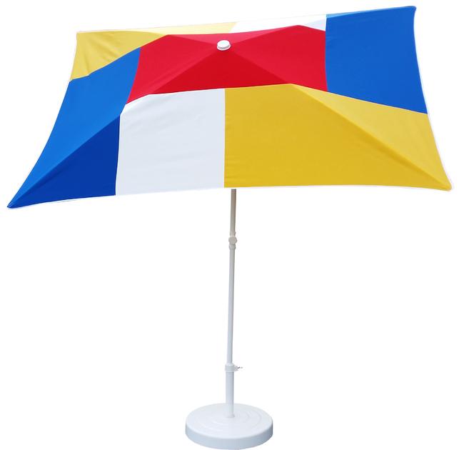 parasol rectangulaire 200x150 mondrian parasol classique parasol de balcon. Black Bedroom Furniture Sets. Home Design Ideas