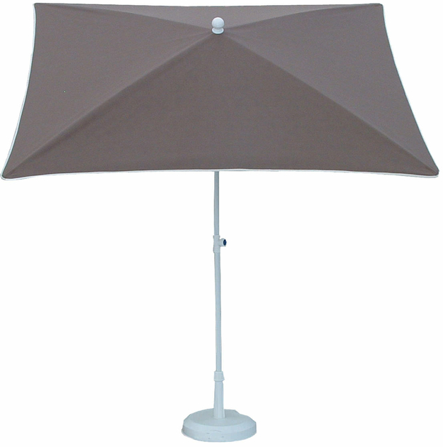parasol rectangulaire 200x150 doubl taupe parasol classique parasol de balcon. Black Bedroom Furniture Sets. Home Design Ideas