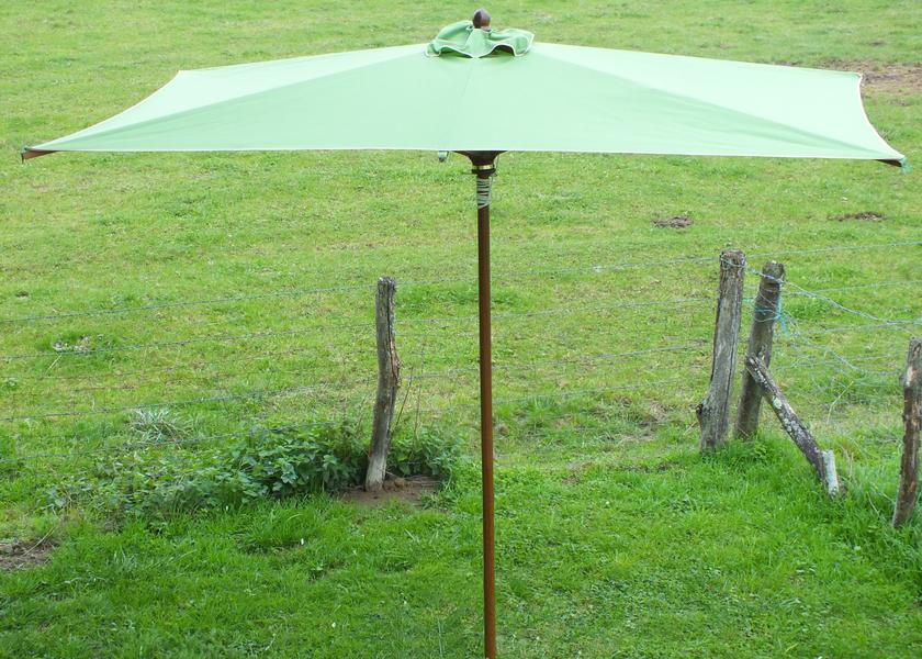 Parasol bois rectangulaire 3x2m   Parasol bois   dess.fr