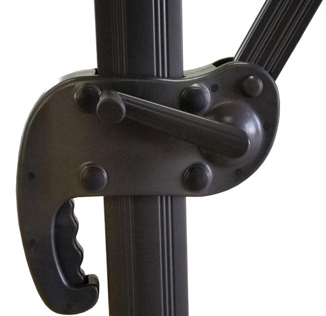 parasol excentr 4x3 avec sa housse d part imm diat. Black Bedroom Furniture Sets. Home Design Ideas