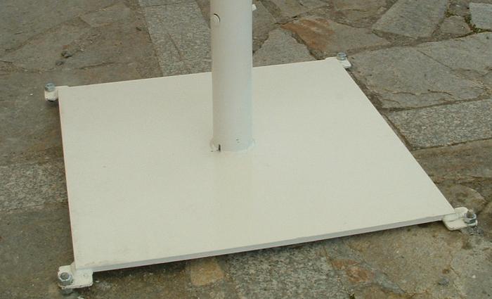 pied plaque parasol geant