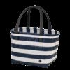 color block shopper bleu marine blanc cabas handed by