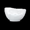 Bol 500ml malin coquin visage sourire blanc vaisselle tassen porcelaine