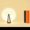 LUMIO mini LITO lampe livre noir orange posé ouvert 360° cosmo