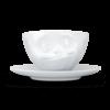 Tasse à café thé délicieux visage gourmand avec sous tasse (1)