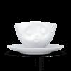 tasse à café bisou avec anse et sous tasse porcelaine tassen(1)