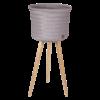 UP high cache pot sur pied en bois tressé à la main avec du plastique recyclé Handed by