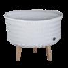 UP low panier cache pot sur pied gris bleu clair tressé main par Handed by fairtrade