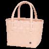 CM cabas citadine pour le shopping élégant rose pâle avec anses en coir PU par handed by