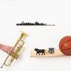 The Line CHICAGO decoration murale silhouette en acier peint noir trompète jazz basket route 66