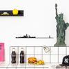 The Line NEW YORK decoration murale silhouette en acier peint noir statue de la liberté pomme burger coca cola
