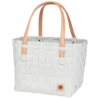 Color block sac de courses misty grey gris clair avec anses brun clair handed by(1)
