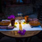 Sonnenglas lampe solaire bocal decoration table à manger lumière
