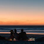 Sonnenglas lampe portable solaire coucher soleil plage