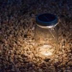 Sonnenglas lampe solaire bocal lumière extérieur verre fairtrade