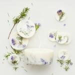 boite cadeau bougie galets de cire parfumé naturel genevrier munio candela fait main