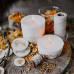 bougie parfumée nature fleurs munio candela cire soja fait main sans plomp
