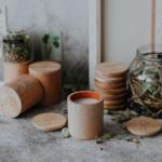 bougie contenant bois parfum tilleul munio candela