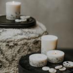Munio candela bougie parfumée naturelles galets senteurs