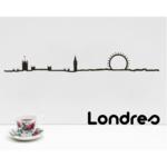 the line Londres sihouette de ville decoration murale