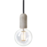 NUD collection ampoule straight filament cage LED douille beton