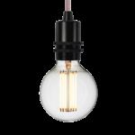 Nud collection ampoule 95mm filament cage douille noir métal