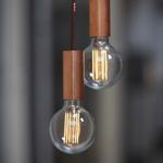 NUD collection ampoule filament LED 95mm douille cuivre