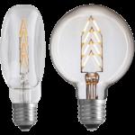 Flat exit ampoule plat NUD collection filament LED