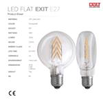 Ampoule plate led flat exit nud collection fiche produit