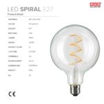ampoule filament led spiral nud collection fiche technique