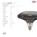 ampoule filament led ufo nud collection fiche technique