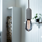 ampoule dambiance led circus douille beton nud collection