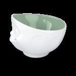 bol 500ml gourmand intérieur vert langue de coté vaisselle tassen