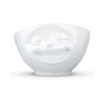 Bol 500ml fou-rire blanc face vaisselle porcelaine tassen
