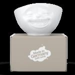 bol 500ml fou-rire blanc carton demballage tassen fabriqué en allemagne avec amour