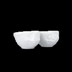 bols 100ml heureux reveur set de 2 vaisselle visage tassen