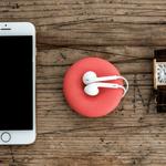 POD rouge range écouteurs coupelle bijoux pratique muemma