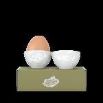 coquetiers n°3 heureux faché vaisselle emotions tassen porcelaine