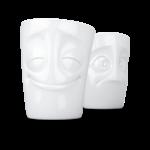Mug set joyeux perplexe vaisselle visage tassen porcelaine