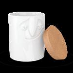 boite alimentaire visage charmant porcelaine avec couvercle liège tassen58