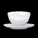 tasse à café visage malin avec anse porcelaine tassen