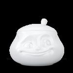sucrier visage humeur doux heureux avec couvercle en porcelaine de Tassen