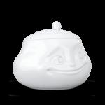sucrier visage humeur doux sourire avec couvercle en porcelaine de Tassen