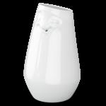 vase visage humeur détendu blanc avec ouverture dans la bouche comme soliflore