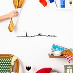 The Line paris decoration murale avec baguette vin croissant chaise de café de paris