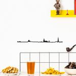 The Line BRUXELLES decoration murale silhouette en acier peint noir bière moules frites gaufres pipe meneken piss