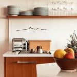 The Line MARSEILLE decoration murale silhouette sur mur dans la cuisine