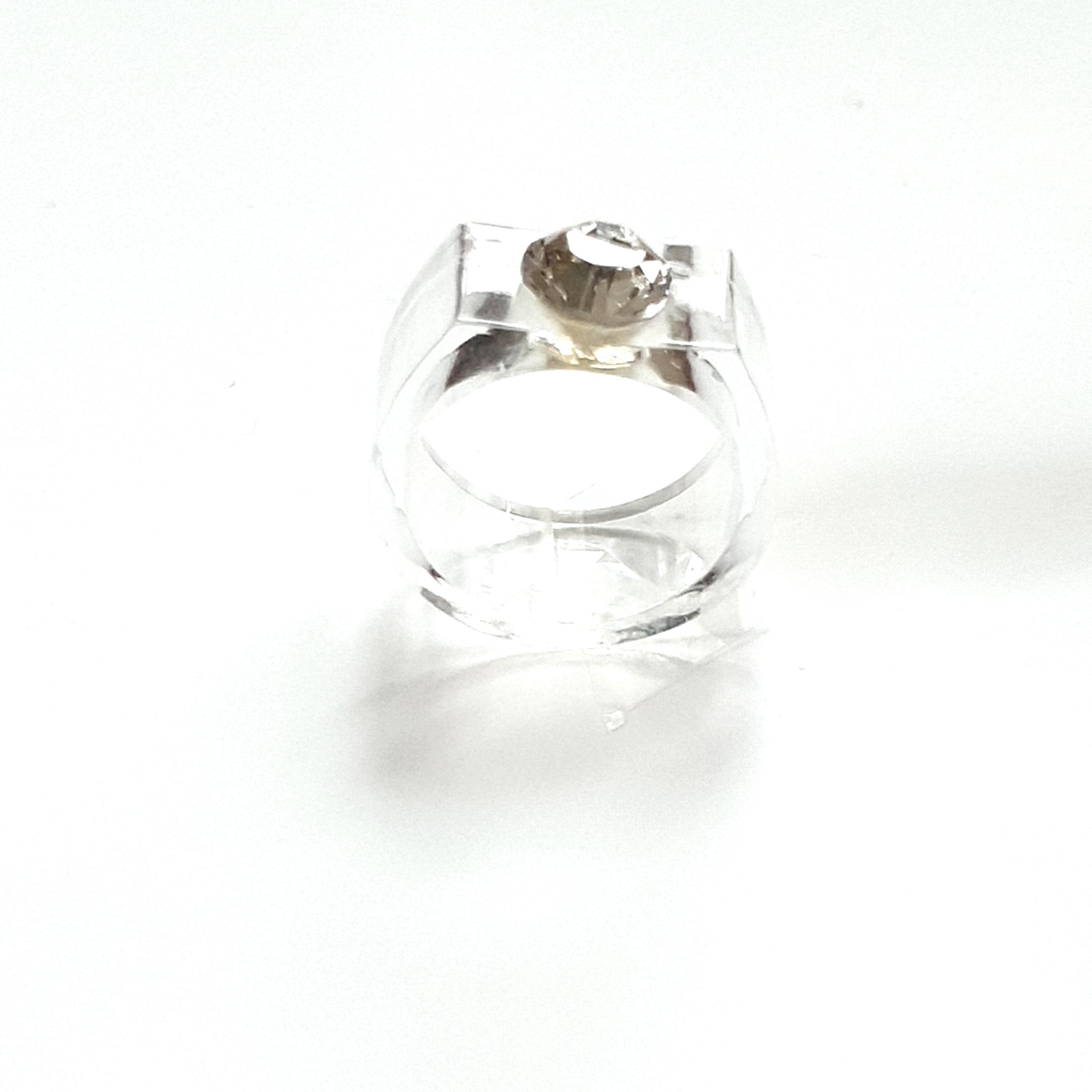 Solitaire cristal diamant